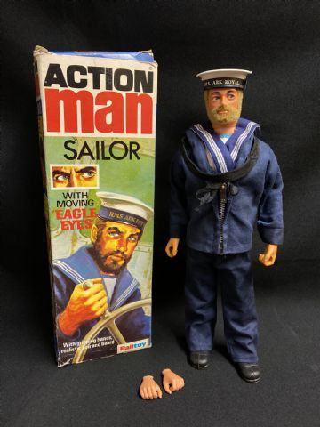 ACTION MAN BOXED VINTAGE SAILOR with EAGLE EYES - BOXED HYBRID (Ref 2)